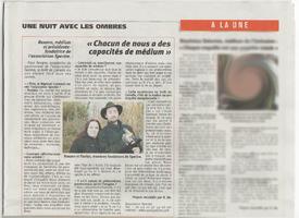 Spectre article L'Echo Régional deuxieme  page