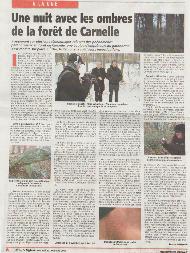 Spectre article L'Echo régional première page